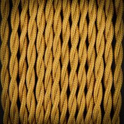 Przewód, kabel elektryczny w oplocie poliestrowym skręcany 2x0,75 Brąz Antyczny