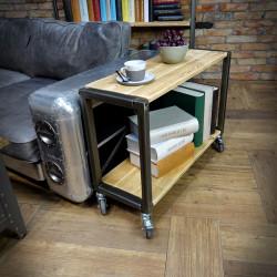 Regał, stolik, konsolka industrialna IRON 80x58