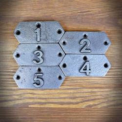 Emblemat numeryczny KORNER 1-5 ZESTAW