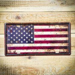 Tabliczka metalowa retro FLAGA USA