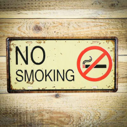 Tabliczka retro z napisem NO SMOKING 1