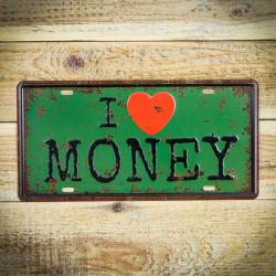 i love money tabliczka ozdobna