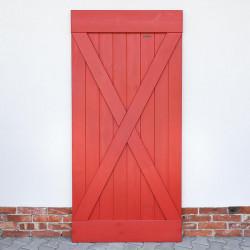 Drzwi przesuwne sosnowe FOREST - X CZERWONE - WYPRZEDAŻ
