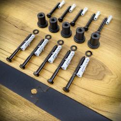 Szyna i zestaw śrub do systemów drzwi przesuwnych 01-MTK czarna