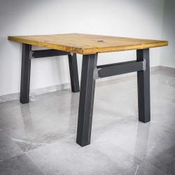metalowe nogi do drewnianego stołu