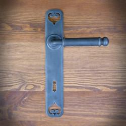 Klamka LISBONA z szyldem na klucz 90mm-OSTATNIE SZTUKI