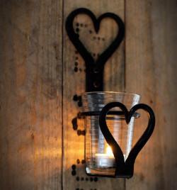 Świecznik KUTY 200mm z szklaną bańką