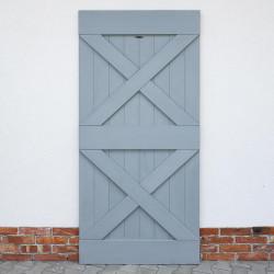Drzwi przesuwne drewniane sosnowe FOREST - 2X