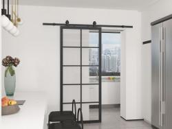 Drzwi przesuwne szklane loftowe TIVOLI