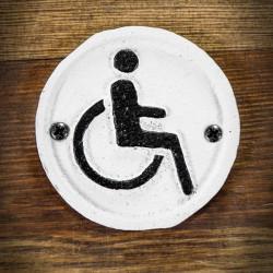 tabliczka wózek inwalidzki
