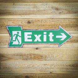 Exit tabliczka kierunkowa wyjście