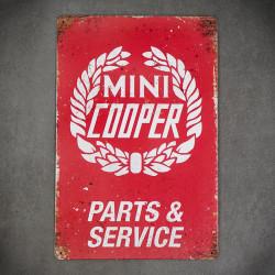 tabliczka metalowa z napisem