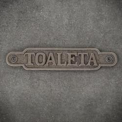 Tabliczka dekoracyjna żeliwna TOALETA 2