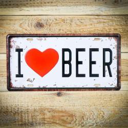 tabliczka ścienna i love beer