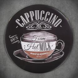 tabliczka okrągła do kawiarni