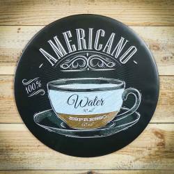 tabliczka retro americano espresso
