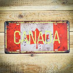 Tabliczka metalowa retro FLAGA CANADA