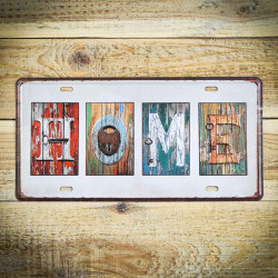 Tabliczka retro naścienna z napisem HOME