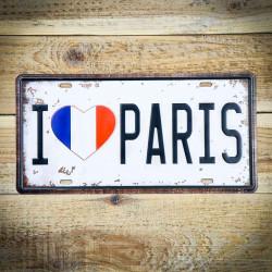 Tabliczka retro I LOVE PARIS