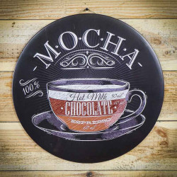 tabliczka ozdobna metalowa czekolada