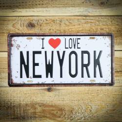 Tabliczka retro I LOVE NEW YORK