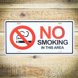 Tabliczka retro z napisem NO SMOKING 2
