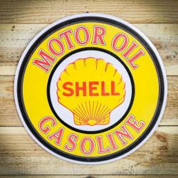 Retro tabliczka okragła SHELL