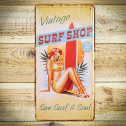 Tabliczka retro naścienna SURF SHOP