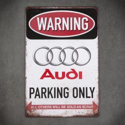 tabliczka ozdobna audi parking