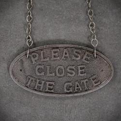 Emlemat / tabliczka proszę zamknąć bramę