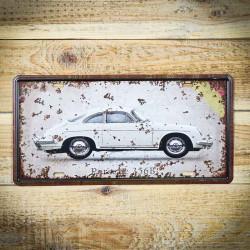 tablicza retro auto porsche