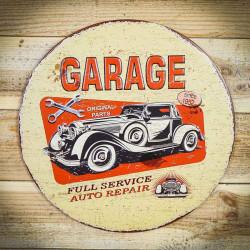 GARAGE tabliczka wisząca retro