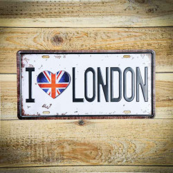 Metalowa tabliczka retro I LOVE LONDON