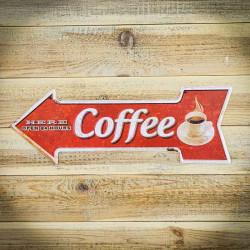 Tabliczka strzałka kierunkowa COFFEE