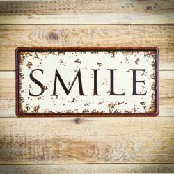 Tabliczka metalowa retro SMILE 1