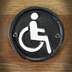 żeliwna tablica wózek inwalidzki