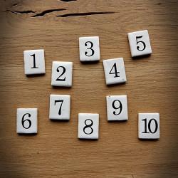 Wkład numeryczny CERAMIKA 1-10 ZESTAW