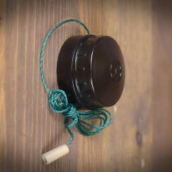 Włącznik światła natynkowy ANTYK SZNURKOWY brązowy