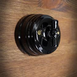 Wyłącznik / przełącznik obrotowy CERAMICZNY czarny