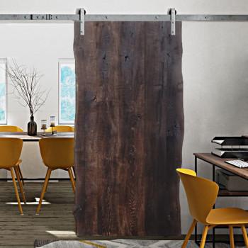 Drzwi przesuwne drewniane dębowe ONE BOARD NERO