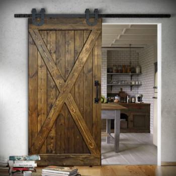 Drzwi przesuwne drewniane sosnowe FOREST - X