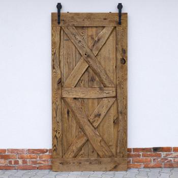 drzwi przesuwne dębowe z prowadnicą