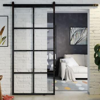 Drzwi przesuwne szklane loftowe GLOSSY