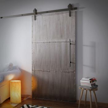 Drzwi przesuwane metalowe INDUSTRIAL