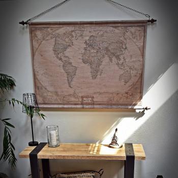 Ścienna mapa świata Globtroter ciemna
