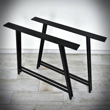 noga stalowa czarna