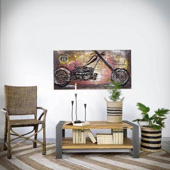 stolik kawowy w loftowym stylu