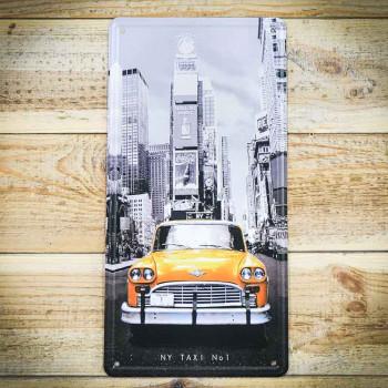Taxi new york tabliczka retro