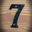 żeliwna cyfra siedem