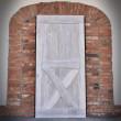bielone drzwi dębowe